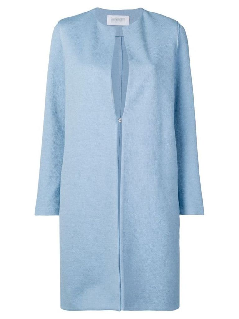 Harris Wharf London collarless coat - Blue