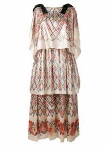 Fendi geometric skirt dress - Neutrals