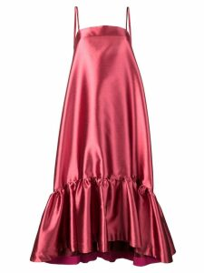 Gianluca Capannolo ruffled hem dress - Pink
