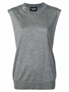 Calvin Klein 205W39nyc cut-out tank top - Grey