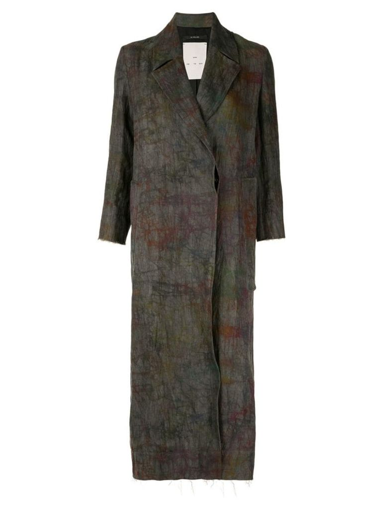 Song For The Mute single-breasted print coat - Grey