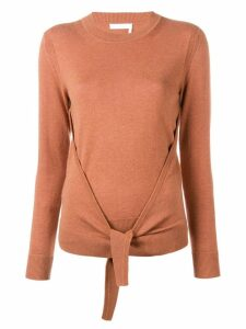 See By Chloé tie-front jumper - Brown