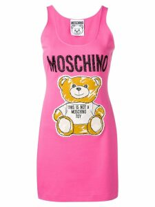 Moschino teddy bear jersey dress - Pink