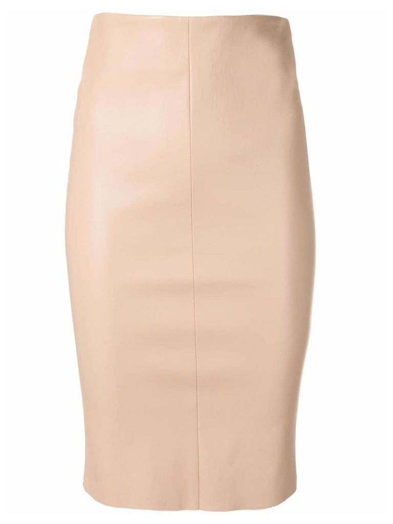 Drome classic leather pencil skirt - Neutrals