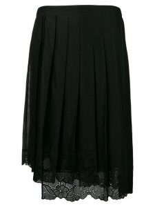 Nº21 lace trim pleated skirt - Black