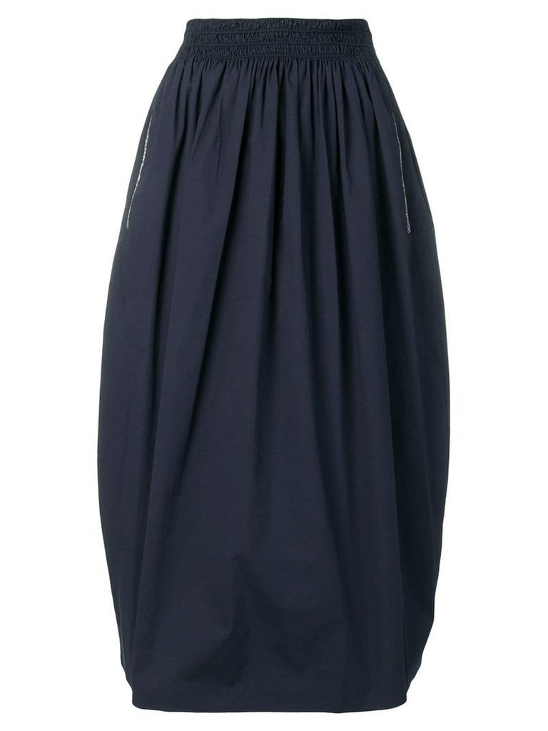 Fabiana Filippi high rise balloon midi skirt - Blue