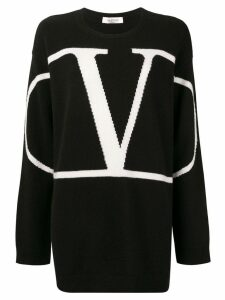 Valentino VLOGO cashmere oversized sweater - Black