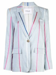 Derek Lam 10 Crosby Single Button Blazer - Blue