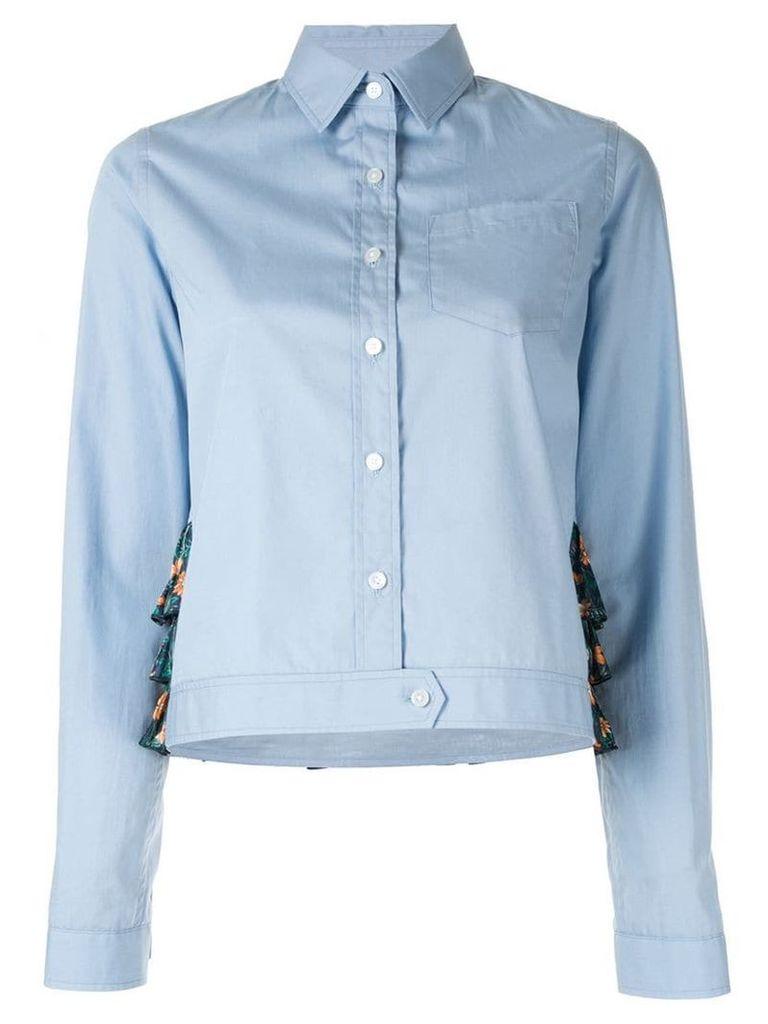 Kolor boxy-fit shirt - Blue
