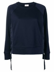 Moncler side zip sweatshirt - Blue