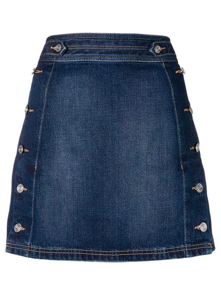 Current/Elliott side button denim skirt - Blue