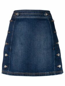 Current/Elliott side button denim skirt - Blue