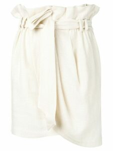 IRO paperbag wrap skirt - NEUTRALS