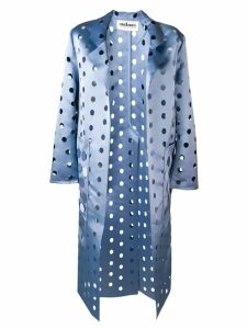 Caban Romantic cut polka dot coat - Blue