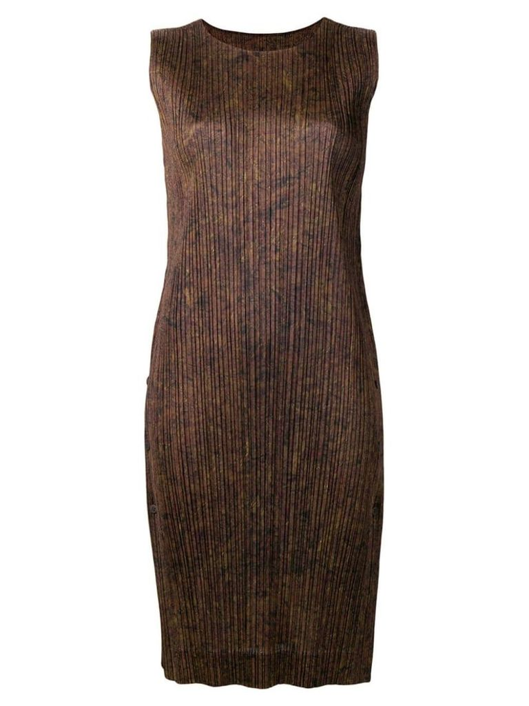 Pleats Please By Issey Miyake pleated shift dress - Brown