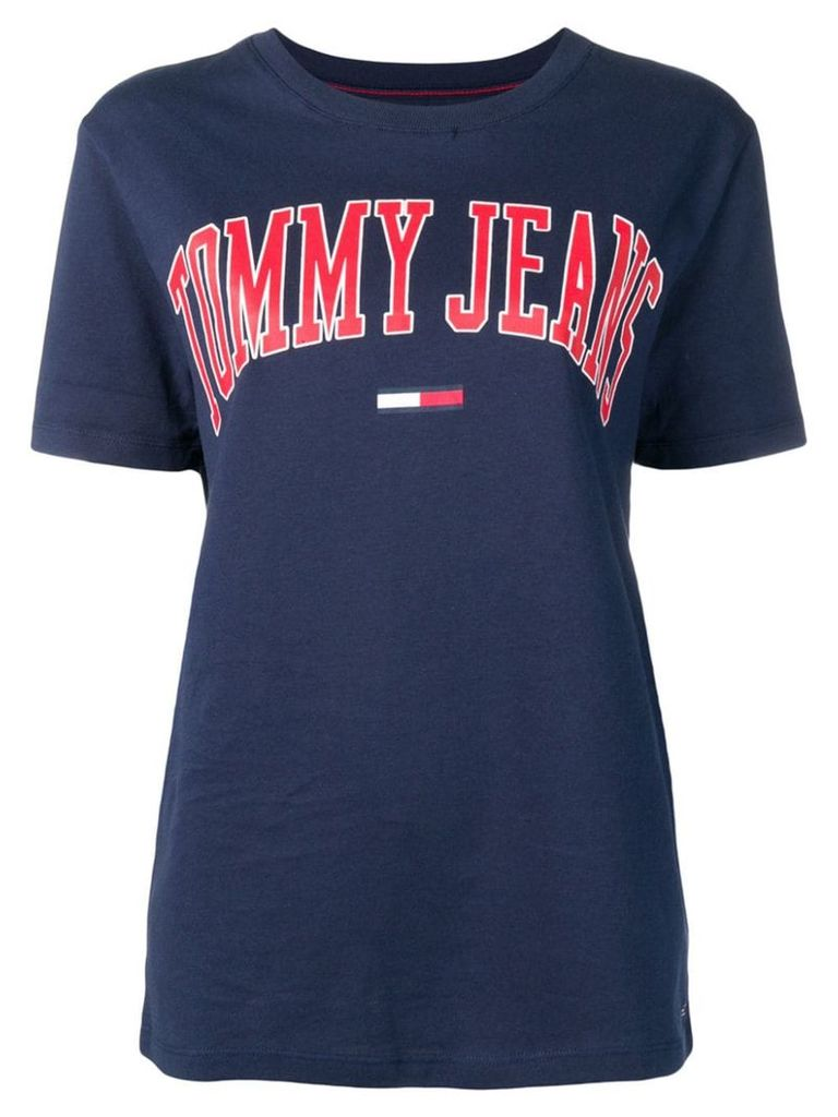 Tommy Jeans logo print crew neck T-shirt - Blue