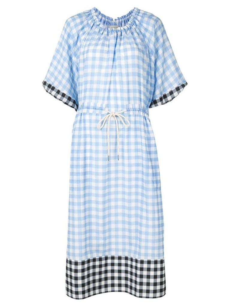 Lee Mathews check dress - Blue