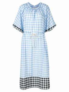 Lee Mathews check dress - Blue