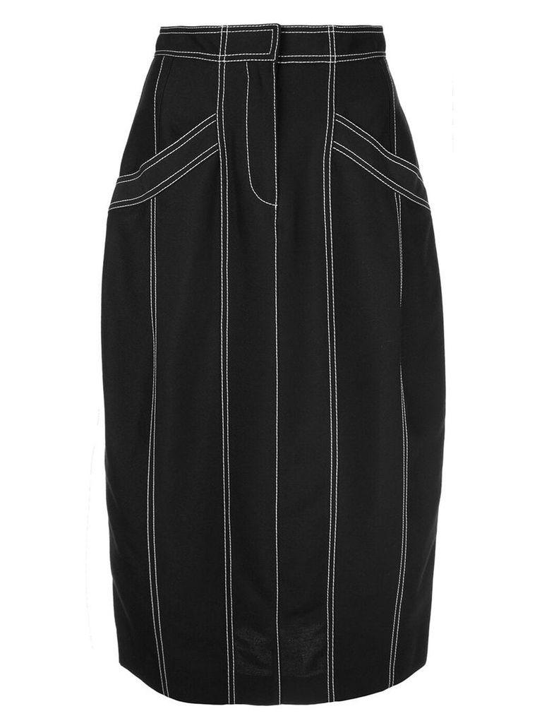 Derek Lam Pegged Skirt with Pockets - Black