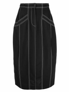 Derek Lam Pegged Skirt with Pockets - Black
