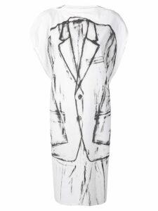 Mm6 Maison Margiela tuxedo print dress - White