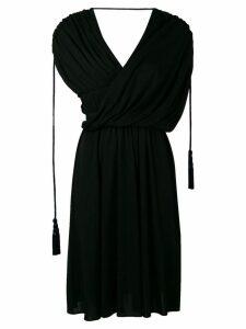 Lanvin draped asymmetrical dress - Black