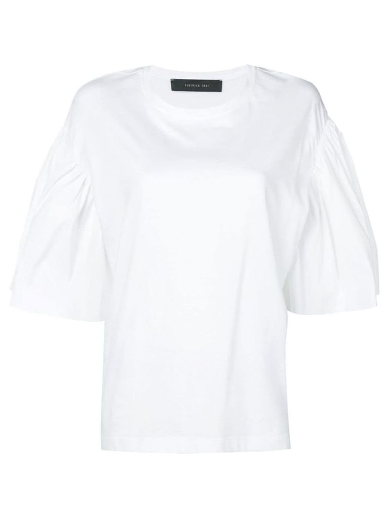 Federica Tosi flared sleeve T-shirt - White