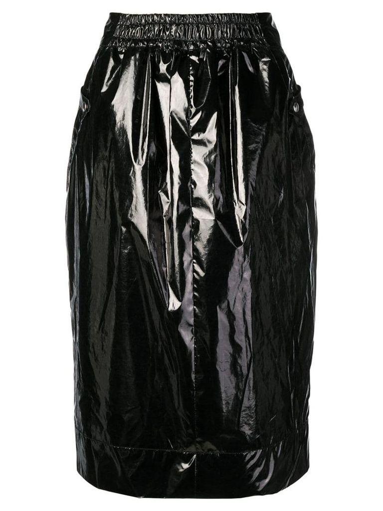 Kwaidan Editions varnished midi skirt - Black