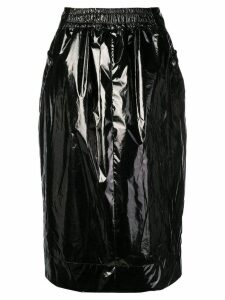 Kwaidan Editions varnished midi skirt - Black