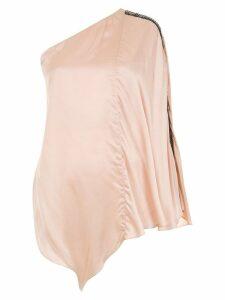 Tufi Duek asymmetric embroidered blouse - Bege Blanchett - 58707