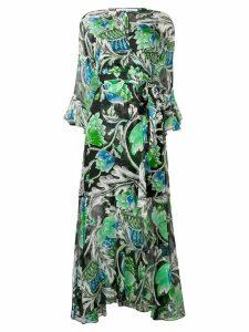 Dvf Diane Von Furstenberg Tiger Lily print wrap dress - Black