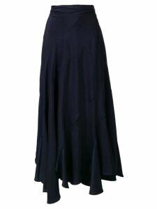 Chloé draped ruffle skirt - Blue