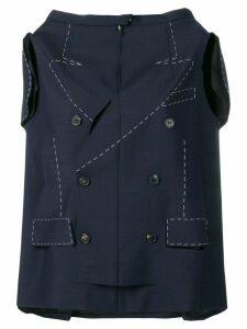 Maison Margiela deconstructed jacket - Blue