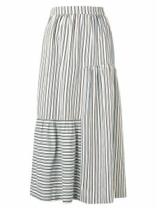 Chinti & Parker stripe flared midi skirt - Blue