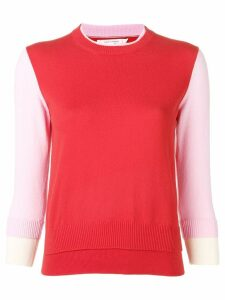 Chinti & Parker contrast panel sweatshirt - Red