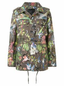 Philipp Plein animal print military jacket - Green