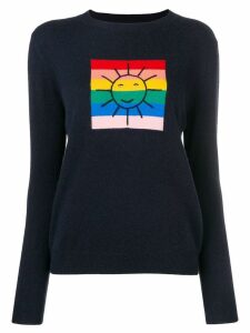 Chinti & Parker colour-block graphic knitted sweater - Blue