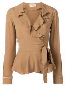 Blanca ruffled wrap blouse - Neutrals