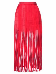 Monse fringe midi skirt - Red