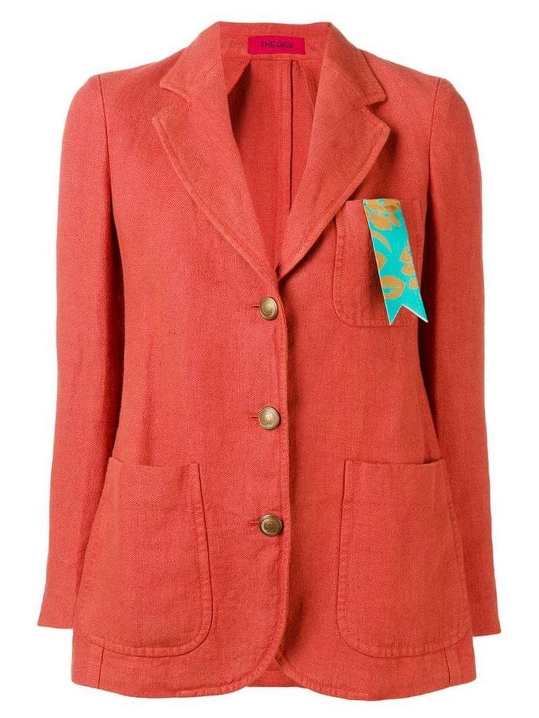 The Gigi pocket ribbon blazer - Red