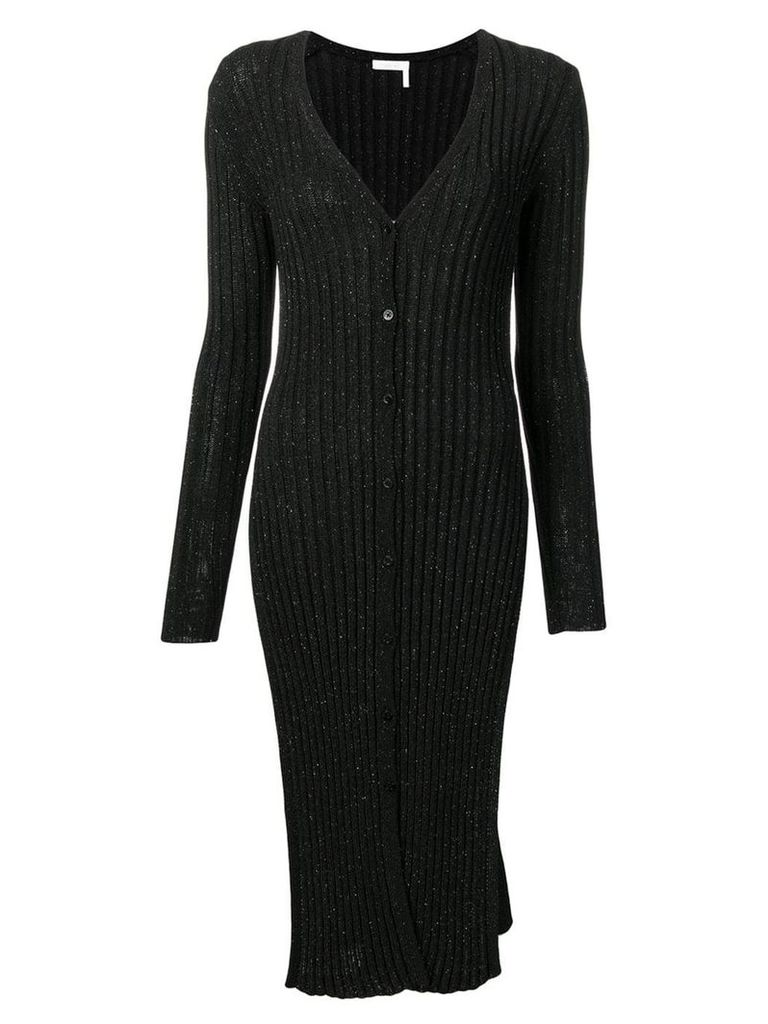 See By Chloé ribbed-knit midi dress - Black