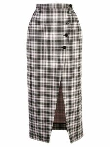 Alexa Chung high-waist plaid skirt - Multicolour