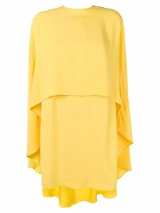 Sara Battaglia cape dress - Yellow