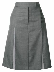 Thom Browne 4-Bar Pleated Front Sack Skirt - Grey