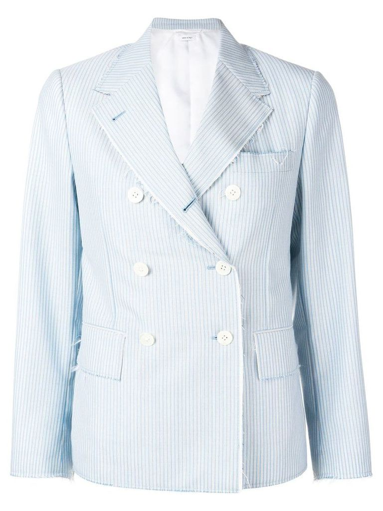 Thom Browne Awning Stripe Narrow Sport Coat - Blue
