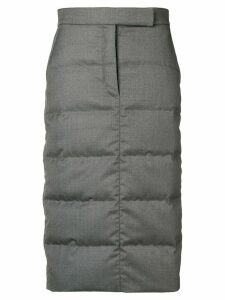Thom Browne 4-Bar Down Sack Skirt - Grey