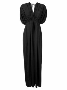 Fisico V-neck maxi dress - Black