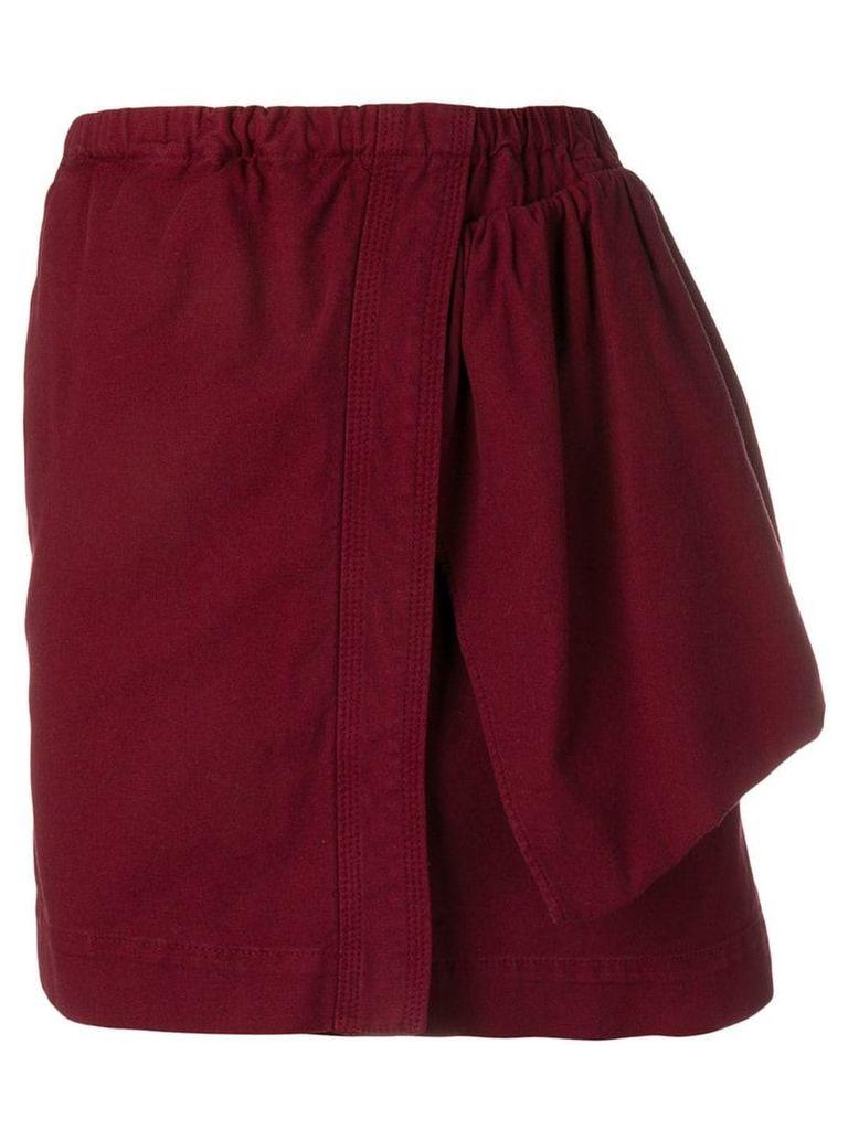 Nº21 asymmetric design skirt - Red