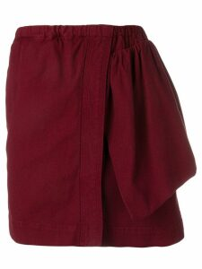 Nº21 asymmetric design skirt - Red