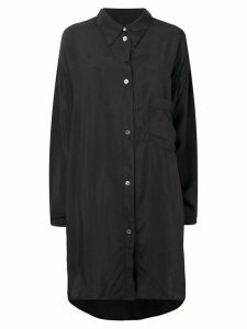 Maison Margiela longline shirt jacket - Black